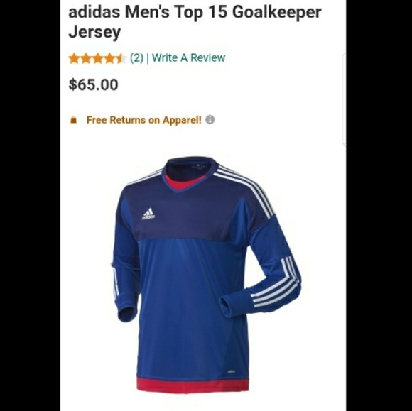 5a7d79887 NWT Adidas ClimaCool Goalkeeper Jersey